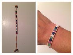 Leer + miyuki tila beads