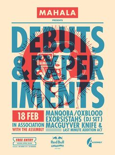 Debuts & Experiments Poster by Studio Kronk