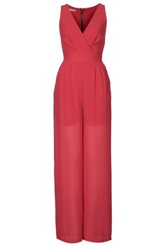 Love this **V Neck Jumpsuit by Wal G via Topshop. Wal G, Travel Style, Savannah Chat, Pant Jumpsuit, Wide Leg, Asos, Topshop, Coral, Rompers