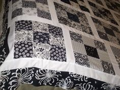 Black and White 9 patch quilt.