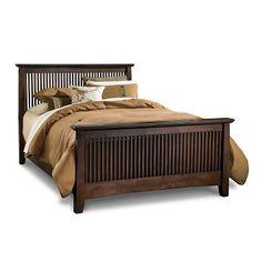 Bedroom Furniture - Arts & Crafts Dark Queen Bed