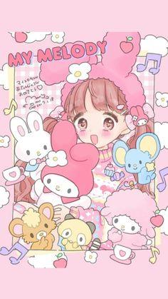 Onegai My Melody My Melody Wallpaper, Sanrio Wallpaper, Kawaii Wallpaper, Cartoon Wallpaper, Kawaii Art, Kawaii Anime Girl, Kawaii Drawings, Cute Drawings, Animes Wallpapers