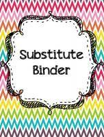 Editable Substitute Binder - AMAZING!