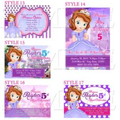 85 best sofia the first birthday 3 images on pinterest princess sofia the first invitations sofia invitation sofia by sdbdirect 999 princess birthday7th stopboris Gallery