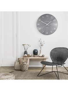 wall clock decor living room 501588477254951686 - Thomas Kent Wharf Wall Clock, Limestone, at John Lewis & Partners Source by Galvanized Metal, Home Collections, Contemporary Design, Living Room Decor, John Lewis, Dining Table, Simple, Wood, Clock Decor