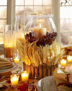 lovely candle centerpiece....