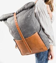 Highwayman Waxed Canvas Rolltop Backpack
