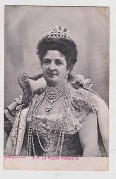 Queen Margherita of Italy Wife of Umberto I Mother of Vict Emmanuel III