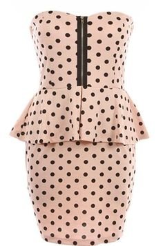 Peppered Peplum Dress | Pink Printed Dresses | Rickety Rack
