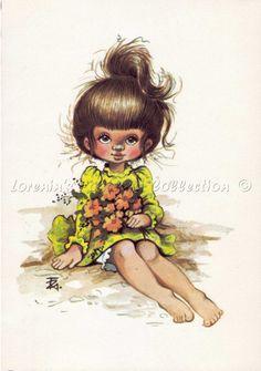 Füzesi Zsuzsa képeslap Cute Illustration, Deco, Tinkerbell, Cute Kids, Illustrator, Disney Characters, Fictional Characters, Teddy Bear, Dolls