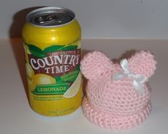 Preemie Teddy Hat free crochet pattern