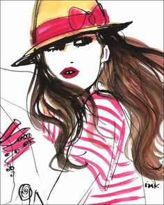 Chic watercolor art for a teen girl's room