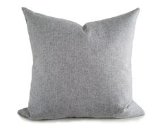 Light Grey Herringbone Pillow Cover, Grey Textured Pillows, Mens Grey Wool Cushion Cover, Grey Tweed Pillow, Grey Throw Pillows, 18x18, NEW