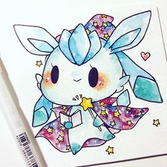 magician glaceon reserved! #inktober