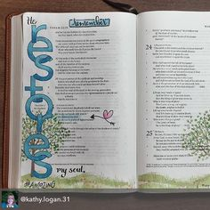 "This #biblejournaling entry by @kathy.logan.31 is just stunning and so peaceful!! I love it!!! -- Repost from @kathy.logan.31 - Psalm 23 has so many comforting verses. The fact that God restores my soul is a concept that has captured my ❤ recently. I'm in awe of His love for each of us! ""Restore"" literally means to return (something) to an earlier or original condition by repairing it, cleaning it, etc. #foreverthankful #psalm23 #restore #icolorinmybible #bibleart #illustratedfaith #scri..."