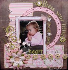This is one of my favourite photos of my niece Isabella The design is from Gabrielle s My Peeps see http www scrapbook com galleries 84905 view 1572515 1 20 1 html Scrapbook Bebe, Baby Girl Scrapbook, Baby Scrapbook Pages, Scrapbook Designs, Scrapbook Sketches, Scrapbook Page Layouts, Scrapbook Paper Crafts, Scrapbook Albums, Scrapbook Cards