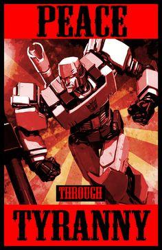 Transformers Propaganda: Peace Through Tyranny - Mike Choi