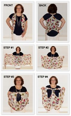 Monica's Beauty Boutique: How to Tie a Scarf Into a Vest (2013 version)