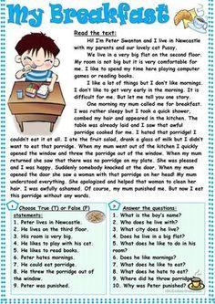 My Breakfast worksheet - Free ESL printable worksheets made by teachers