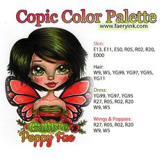 Copic Color Palette Gabbie Poppy Fae By Amanda S Byron Faeryink