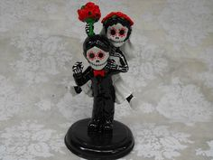 Day of the Dead WEDDING CAKE TOPPER  Funny Couple by dnacreations, $50.00