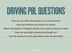 Looking for more PBL questions? Check out this big list.