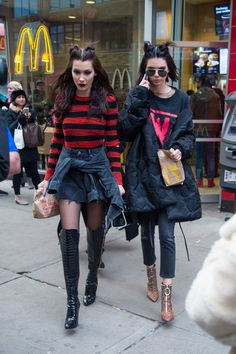 February 15th, 2017: Kendall and Bella Hadid leaving McDonald's in Manhattan.