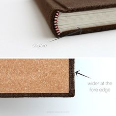Squares + Correct Order of Turn-ins / paperiaarre | 7 tips for more professional looking handmade books