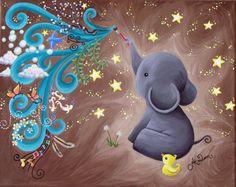 Inspired :) Elephant Wallpaper, Elephant Artwork, Elephant Love, Elephant Paintings, Elephants Photos, Elephant Pictures, Animal Drawings, Cute Drawings, Elefante Tattoo