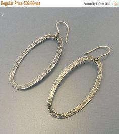 Silpada Sterling Silver Oval Hoop Earrings by jujubee1 on Etsy