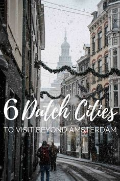 While most travellers head to Amsterdam, the Netherlands has great alternative cities that are worth a visit! We've rounded up the best including Utrecht, Rotterdam, Maastricht, Leiden, The Hague, and Groningen #traveltips #travelblogger #dutch