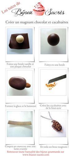 Créer un magnum en pâte polymère by Bijoux Sucrés