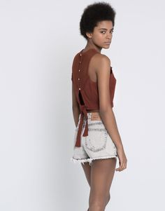 CROCHET TOP WITH BOW - NEW PRODUCTS - NEW PRODUCTS - PULL&BEAR Ukraine