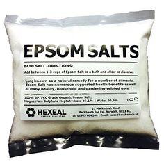 From 4.41:Epsom Bath Salts | 1kg Bag | 100% Organic | Fcc Food Grade | Magnesium Sulphate | Shopods.com