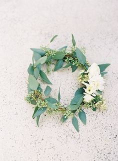 Olive Wreath | Kat Braman Photography | See More: http://heyweddinglady.com/the-summer-isles-mediterranean-wedding-inspiration-in-olive-pati...