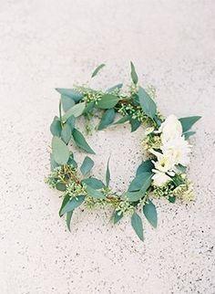 Olive Wreath | Kat Braman Photography | See More: http://heyweddinglady.com/the-summer-isles-mediterranean-wedding-inspiration-in-olive-pati...