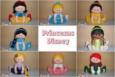 Ateliê Feltros Coloridos: Princesas Disney centro de mesa