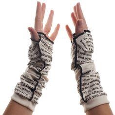 Pride and Prejudice Writing Gloves - Fingerless Gloves - Storiarts