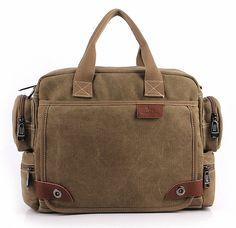 MANJH Canvas Tidal Shoulder Messenger Bag Handbag Business Bag -- Visit the image link more details.