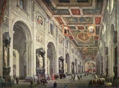 Interior of the Santa Maria Maggiore in Rome Giovanni Paolo Pannini (1691-1765) Hermitage - St. Petersburg