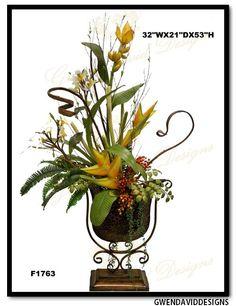 Exotic silk flower arrangement by gwen david designs exotic silk exotic silk flower arrangement by gwen david designs exotic silk flower arrangement by gwen david designs pinterest flower arrangements mightylinksfo