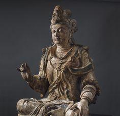 中國古代藝術展由埃斯凱納齊|埃斯凱納齊 大木觀音(觀音) 身高:175.0厘米 北宋和金期間,11月中至十二世紀中期,