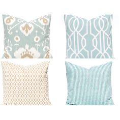 Sofa Pillow Covers Decorative Pillow Covers Seafoam Green Cushion... ($9) ❤ liked on Polyvore featuring home, home decor, throw pillows, decorative pillows, home & living, home décor, light blue, light blue throw pillows, monogrammed pillow shams and baby blue throw pillows
