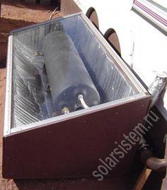 солнечный водонагреватель из бака