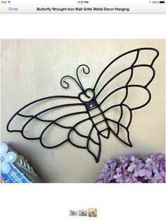 Metal Artwork, Metal Projects, Butterfly Art, Iron Wall, Wire Art, Plant Decor, Blacksmithing, Metal Working, Easy Crafts