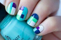 color block nails, may be my next =)