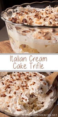 Layered Desserts, Summer Desserts, Just Desserts, Delicious Desserts, Yummy Food, Italian Desserts, Sweet Desserts, Trifle Bowl Recipes, Trifle Desserts