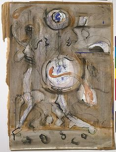 The Metropolitan Museum  Untitled  ca. 1945–46  Watercolor, gouache, ink, and graphite on paper  H. 21-1/4, W. 15-1/4 inches   (54 x 39.4 cm.)