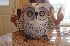 A DIY Milk Jug Snow Owl