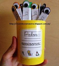 Hoy os traigo un recuro ¡que me encantó cuando lo vi en pinterest el curso pasado!   La idea es del blog: Make, take & teach . Si entráis e...